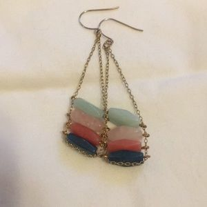 Jewelry - Stacked stone earrings